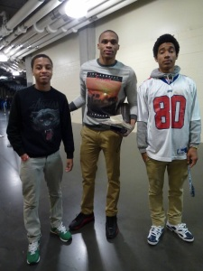 Kamil and TimQuan with Russell Westbrook